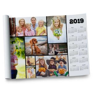 Customize your own 2019 calendar by adding your own photos to our 12x18 Calendar Wall Poster.