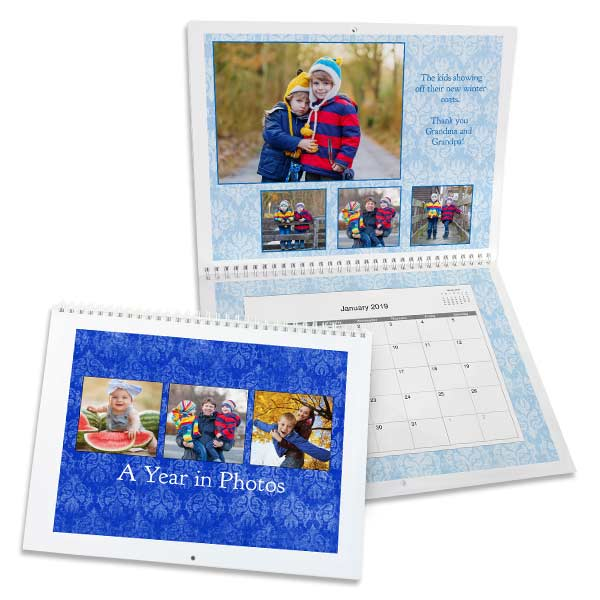 Create a custom 2019 calendar using your own photos with MailPix 8x11 calendars