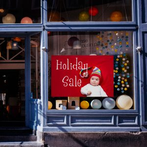 Create your own window clings for yous shop and advertise your business