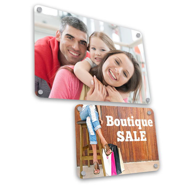 Uniquely display your photo wall art in your home with floating aluminum signs