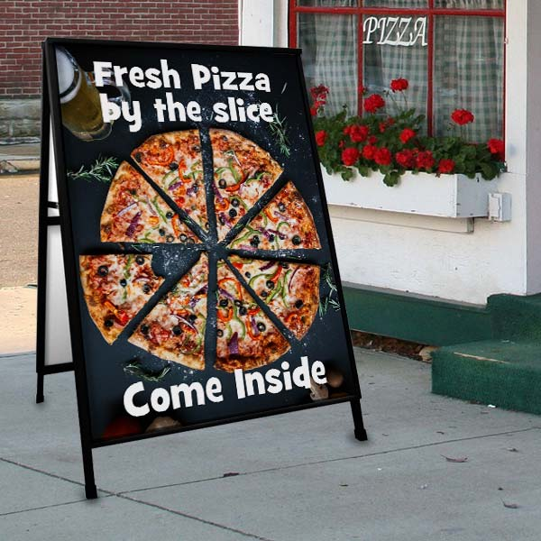 Create a custom sidewalk sign for your business and get foot traffic through the door