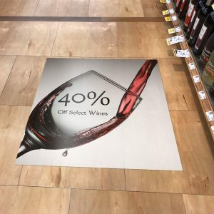 Sell more in your shop with custom floor graphics