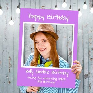 Celebrate your cause with a selfie frame and post it online, perfect for your moment