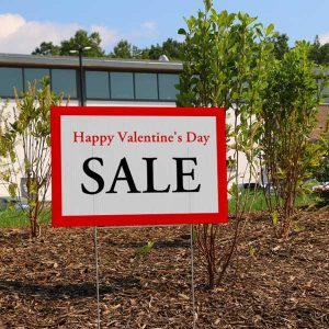 Create a custom lawn sign and advertise a sale for your business