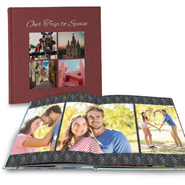 Create a beautiful coffee table 12x12 photo book with full spread lay flat pages for your home