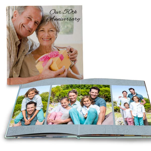 Create a premium layflat photo book for your family photos or Anniversary