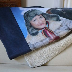 Create your own super soft sherpa blanket personalized with pictures