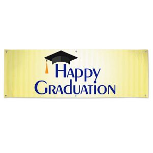 Happy Graduation banner for your Graduation Party or event