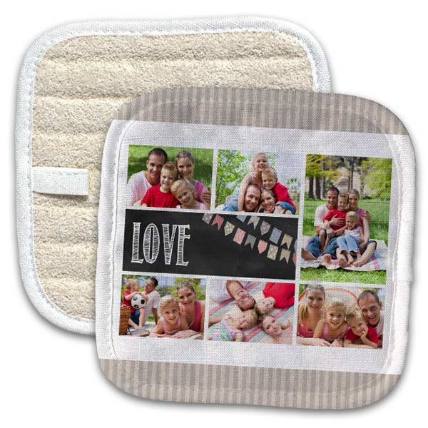 MailPix Pot holder offers many design options and photo designs