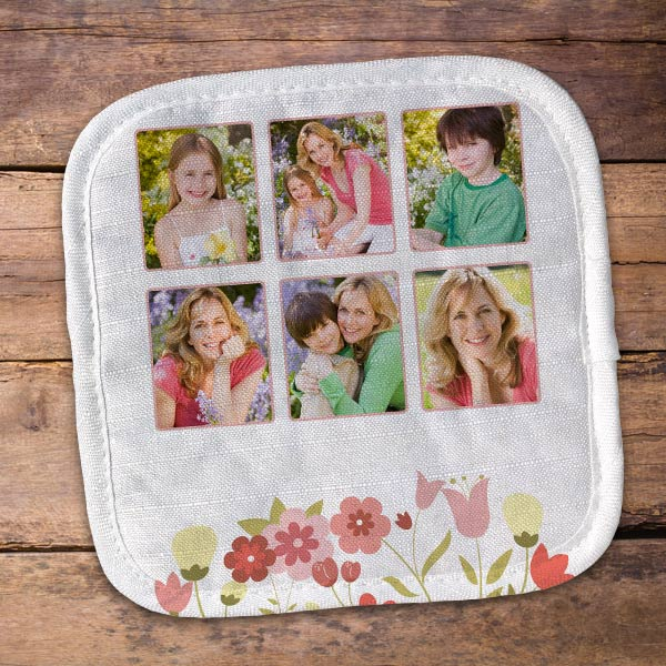 Create a personalized pot holder for your mom and give her a custom gift