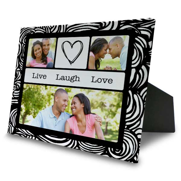 Create a photo collage easel back canvas for your home or office