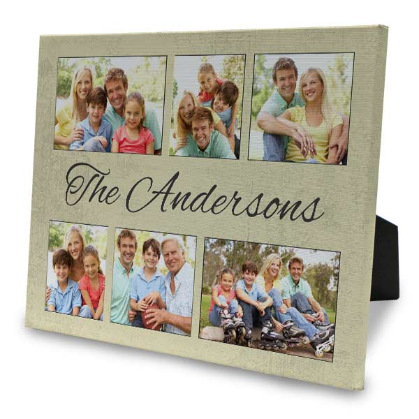 Designer 8x10 easel back canvas allows you to create photo art for your home