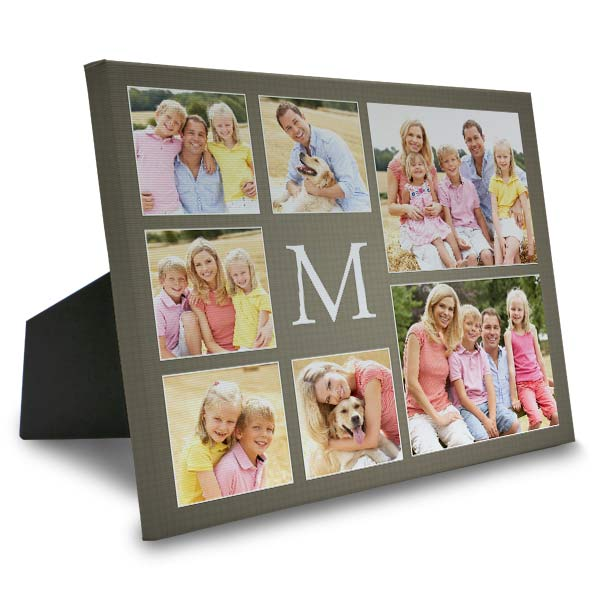 Personalize your own easel back canvas photo collage print