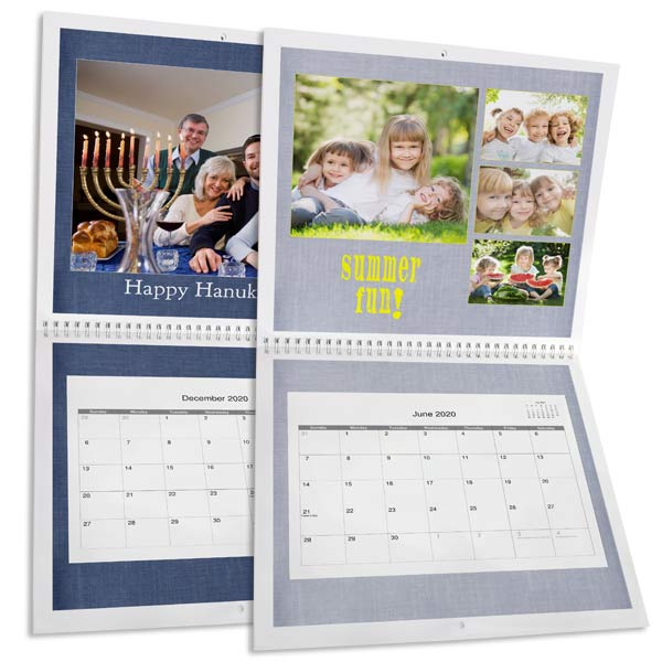 Fill your space with a custom photo calendar for the new year