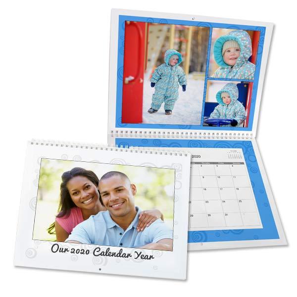Create a custom 2020 calendar using your own photos with MailPix 8x11 calendars