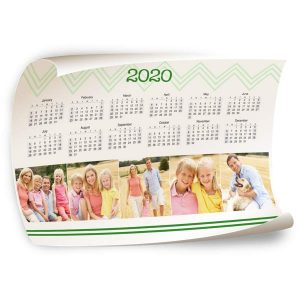Customize your own 2020 calendar by adding your own photos to our 12x18 Calendar Wall Poster.