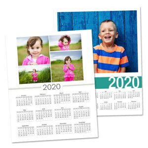 Customize your own 2020 single page wall calendar with a special photo.