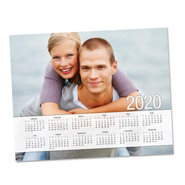 Single page photo calendars for your office or school with photo collage layouts for 2020