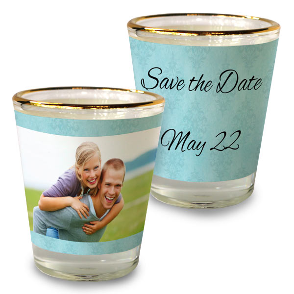 Create your own souvenir with a custom shot glass, great for parties and events