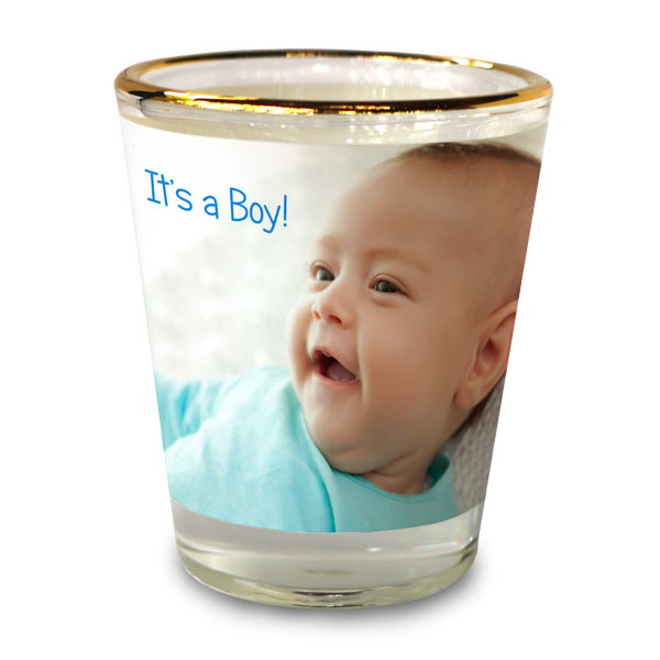 Celebrate your new baby with custom shot glasses for the occasion