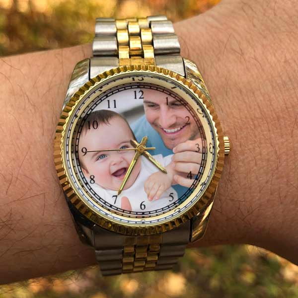 Add your photo to a custom watch you can wear all day