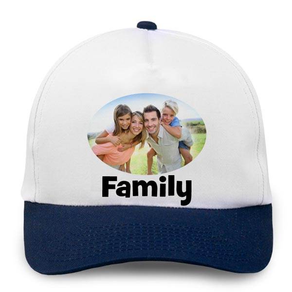 Create your own baseball cap with a photo and text
