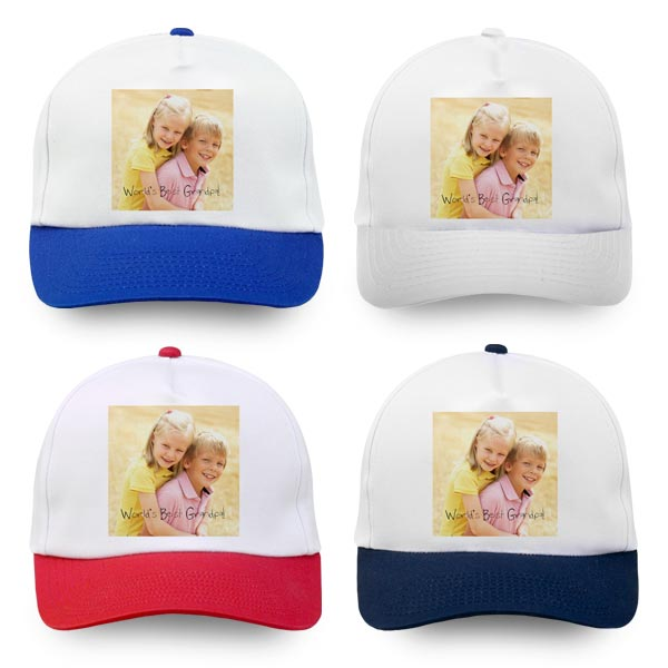 Custom Photo hats are available in 4 different colors.