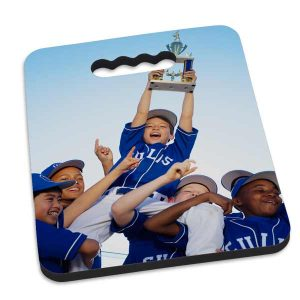 Keep you bum warm on the bleachers with a custom seat cushion