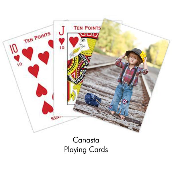 Photo personalized Canasta playing cards with your own photo