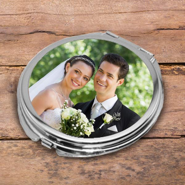 Using your own photo, create a personalized Compact Mirror for your purse or gift
