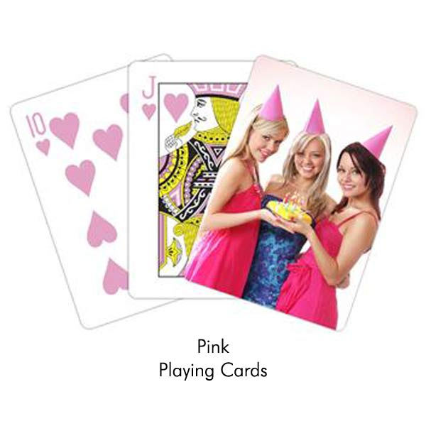 Pink playing cards perfect for her and for parties