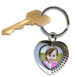 Custom photo heart key ring for your keys and precious items