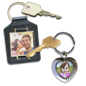 Custom photo keychains are available in a wide variety of options for your style