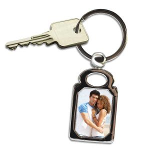 Create a custom key chain, our photo rectangle key chain is great for your needs