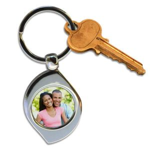 Swirl photo custom key ring for your keys, add a photo and enjoy for years