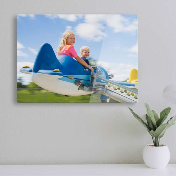 Print your photo on modern glossy floating acrylic for your home or office