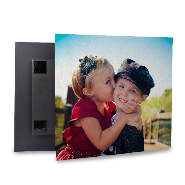 Floating block canvas is a quick and easy way to hand and re-hang your canvas prints
