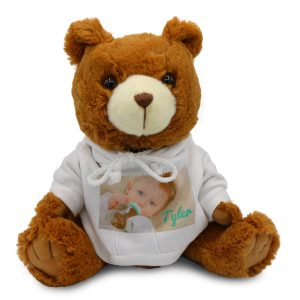 Create the perfect gift for a special someone with our personalized photo bear.