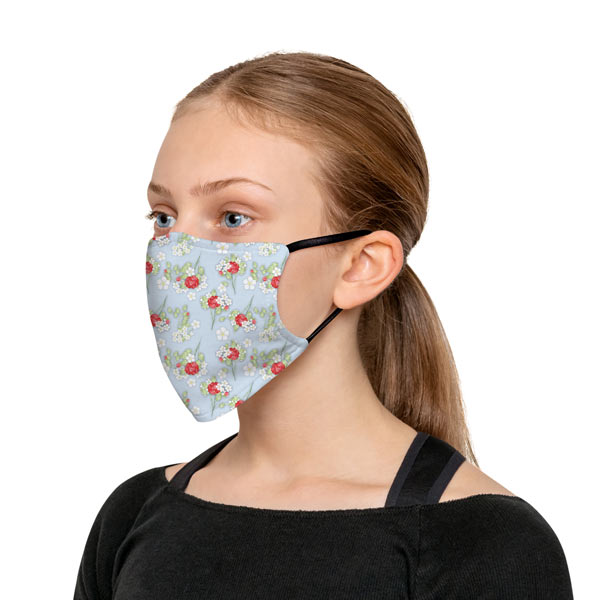 Choose from available patterns and create a cute face mask for your outfit
