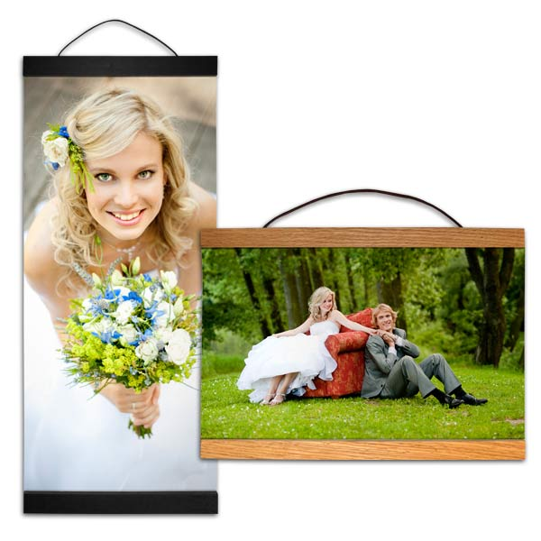 Order a hanging canvas that is perfect for your photo with our many sizes to choose from