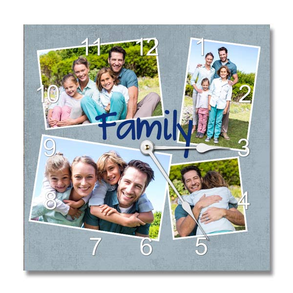 Create your own wall clock with backgrounds and photos and choose your own number style