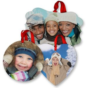 Glossy photo ornaments are perfect for adding memories to your holiday tree