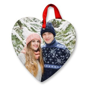 Create a beautiful heart shaped ornament for you and someone special