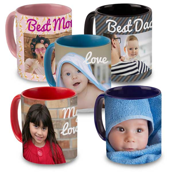 Color accent mugs are a great gift for anyone and are available in 5 different colors