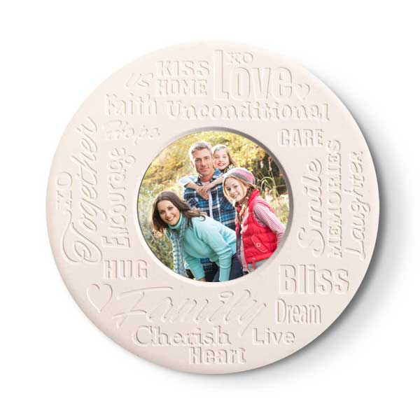 Loving family stone photo coasters make a great addition to any home