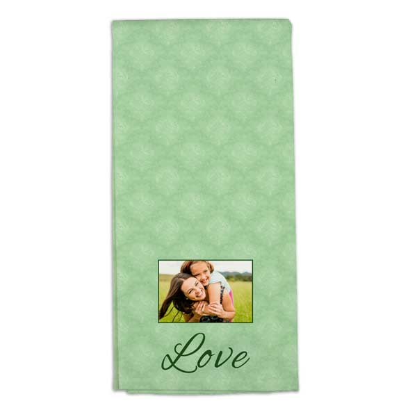 Personalize your own tea towel for your home and kitchen and add color and interest to your space