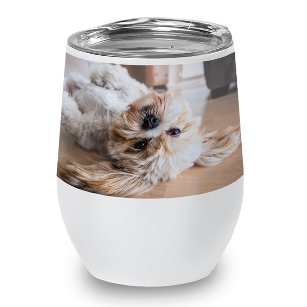 Add your own photo or logo to create a high quality wine cup