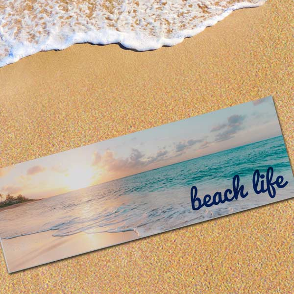 Enjoy a day at the beach lounging on your own custom made beach mat