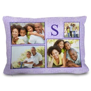 Photo collage couch pillow for your home or office to show of and share memories