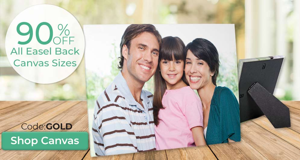 Create a beautiful easel back canvas for the perfect gift